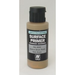 Acrylic surface primer german green brown 60ml (RAL8000)