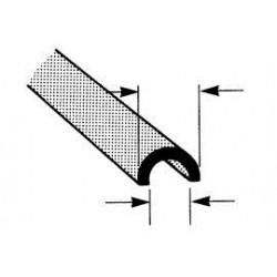 ABS halfrond open profiel 6,4mm L-38CM