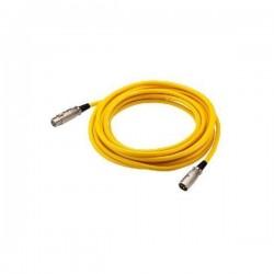 XLR kabel ml/fm bal. geel 6m