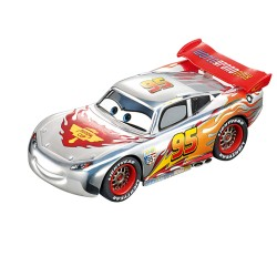 Carrera GO slot car Silver Lighting McQueen 1/43