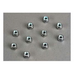 nuts, 4mm nylon locking 10st.