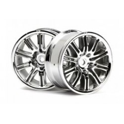 1/10 10-spaaks chrome velg 26mm 2st.