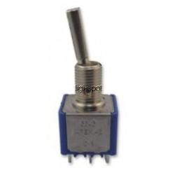 tuimelschakelaar mini   2x om plat  gat-6.5mm
