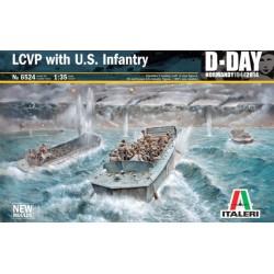 LCVP WITH U.S INFANTRY 1/35