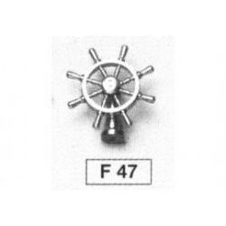 Messing stuurwiel met stuurstand 25mm