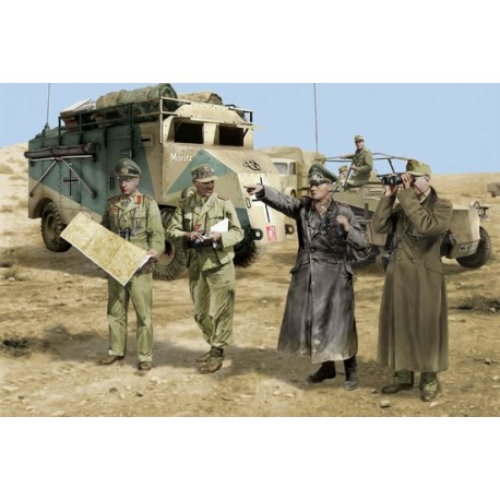 Rommel and his Staff (N.Africa 1942) 1/35