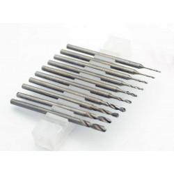 10 boortjes met dikke shaft 0,6-2,3mm