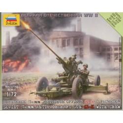WWII SOVIET ANTI-AIRCRAFT GUN 1/72