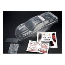 Traxxas TRX3714 clear truggy body+stickers rustler