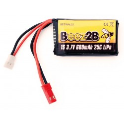 1s 3.7V 600mAh 25C lipo battery for V120D02S/ W100 & Traxxas/Latra