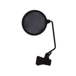 """microfoon antiplop scherm met klem 6""""""""  (16cm)"""