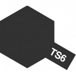Acryl spuitbus plastics matt black TS-6 100ml.