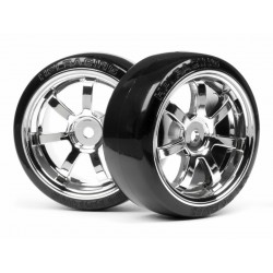 T-DRIFT TIRE 26mm RAYS 57S-PRO WHEEL CHROME 2st.
