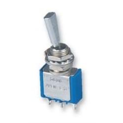 tuimelschakelaar mini 1x om plat  gat-6.5mm