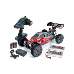 RTRe 1/8 brushless buggy 4S 2.4Ghz + lipo's en Lader
