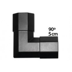 50x25mm ZWART hoekstuk