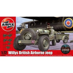 WILLYS JEEP TRAILER&GUN 1/72