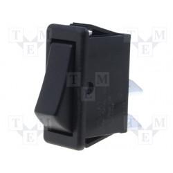 wipschakelaar 250v12A  on/off zwart 28x12