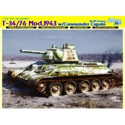 T-34/76 MOD W/COMMANDER 1/35