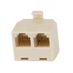 Adapter m-f-f   rj-12 6p6c