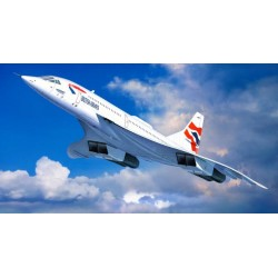CONCORDE BRITISH AIRWAYS 1/72 85X36CM