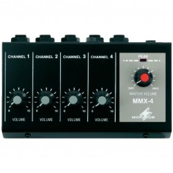 Mini microfoon mixer 4kan.