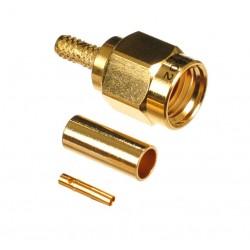 SMA plug fem reverse rg58