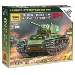 SOVIET KV-1 TANK F-32 GUN 1/100