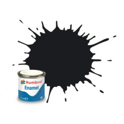Humbrol Enamel 201 metaal zwart 14ml.