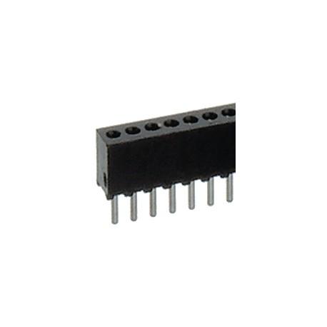 SIL female 1x50p 1.27mm