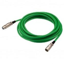 XLR kabel ML/FM 0.7mtr groen