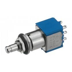puls-drukschakelaar metaal  2x om  gat-6.5mm