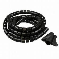 Spiraalband 2mtr zwart