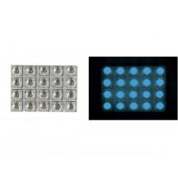 20xLED's 12v 50x35mm blauw 0.4A