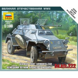 GERMAN LIGHT ARMORED CAR SD.KFZ.222 1/100