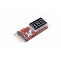 mini LiPo accu checker 1-6cel 25x23x11mm