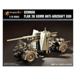MERIT GERMAN FLAK 36 88MM ANTI-AIRCRAFT GUN 1/18