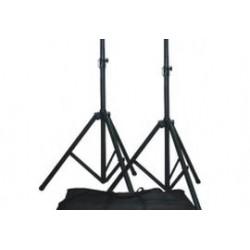 2x speakerstandaard in tas