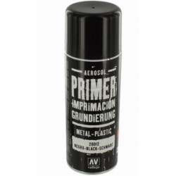 Spuitbus acrylic surface primer zwart 400ml.