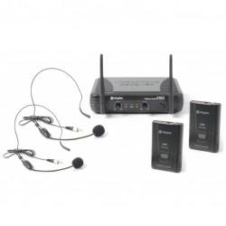 draadloze microfoon set 2x beltpack