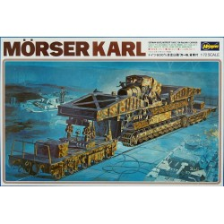 GERMAN MORSER KARL ON RAILWAY CARRIER 1/72