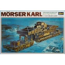 GERMAN MORSER KARL ON RAILWAY CARRIER 1/72