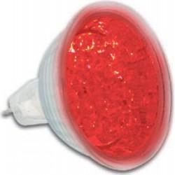 12v ledlamp, reflektor rood