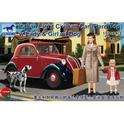 ITALIAN CIVILLIAN CAR w/LADIES AND GIRL 1/35