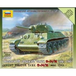 SOVIET TANK T-34/76 (MOD.1940) 1/100