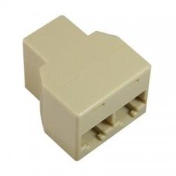Adapter f-f-f   rj-12 6p6c