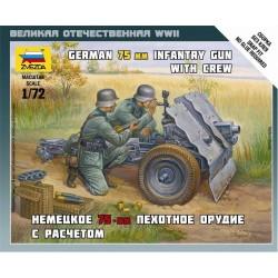 GERMAN 75MM INFANTRY GUN w/CREW 1/72