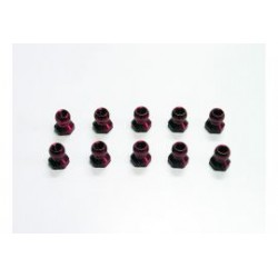 5mm alu ball nut m3 red