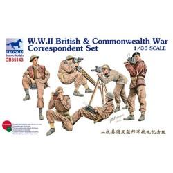 WWII BRITISH&COMMONWEALT WAR CORRESPONDENT SET 1/35