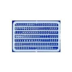 Letters en cijfers 4mm